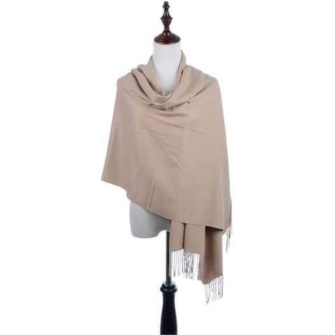 BYOS Oversized Soft Cashmere Shawl Scarf Wrap Blanket