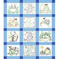 "Frog - Stamped Baby Quilt Blocks 9""X9"" 12/Pkg"