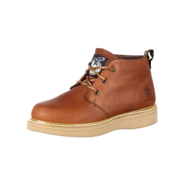 Georgia Boot Work Mens Farm N Ranch Chukka Barracuda Gold