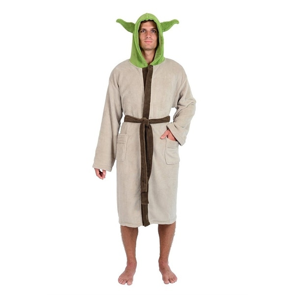 Star Wars Yoda The Jedi Master Adult Hooded Bathrobe - Green