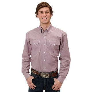 Roper Western Shirt Mens Plaid Buttons L/S Red 03-001-0378-6054 RE
