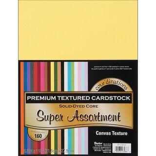 "Core'dinations Value Pack Canvas Cardstock 8.5""X11"" 160/Pkg-Textured Super Assortment"