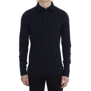 TOMMY HILFIGER Blue Button Down Polo Sweater