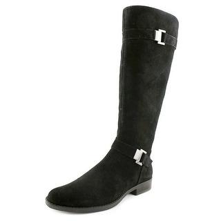 Calvin Klein Terena Women  Round Toe Suede Black Boot