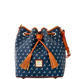 Dooney & Bourke MLB Braves Drawstring (Introduced by Dooney & Bourke at $248 in Oct 2015) - Navy