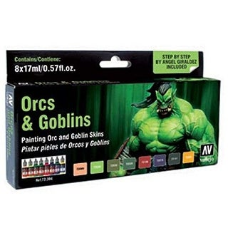 Vallejo Orcs & Goblins Game Color (8 Set) Paint