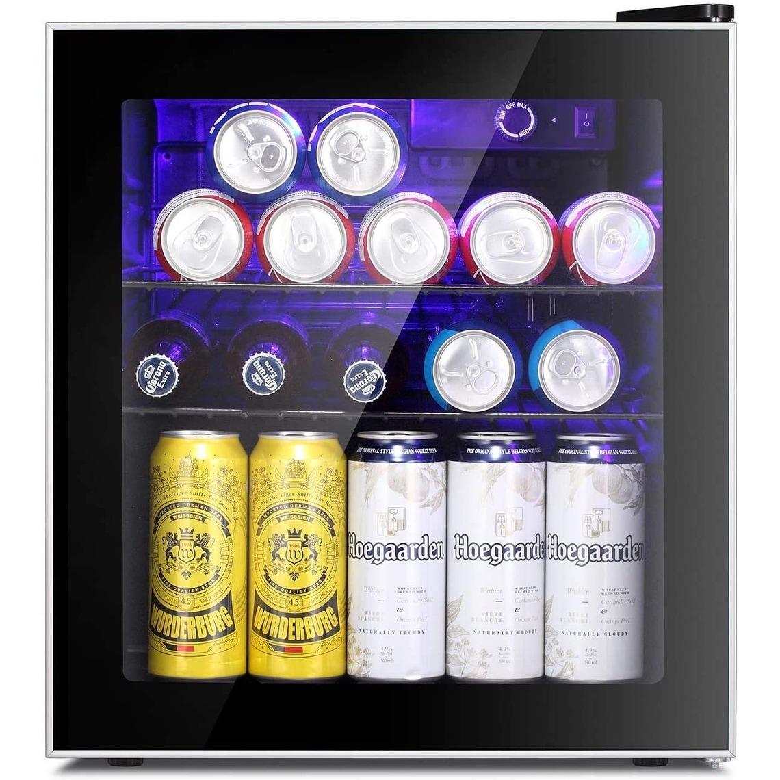 1 6cu Ft Mini Fridge Cooler 60 Can Beverage Refrigerator Glass Door