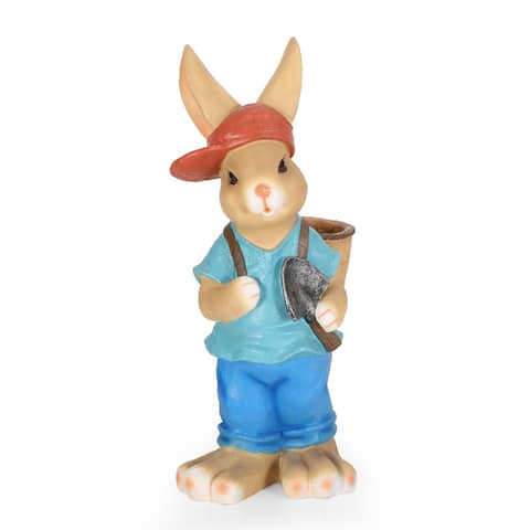 Twete Outdoor Cast Stone Outdoor Decorative Rabbit Planter by Christopher Knight Home