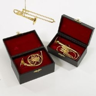"""Club Pack of 12 Brass Musical Instrument Christmas Ornaments 5.5"""""""