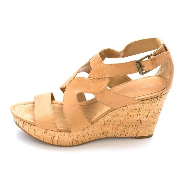 Nine West Womens Ekta Leather Open Toe Casual Platform Sandals