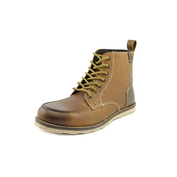 Crevo Buck Men  Moc Toe Leather Brown Boot