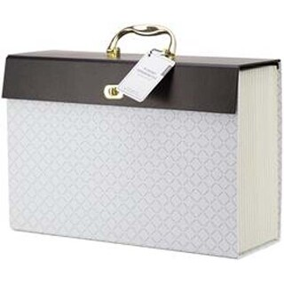 White - Modern-Noir Expandable File 19 Pocket