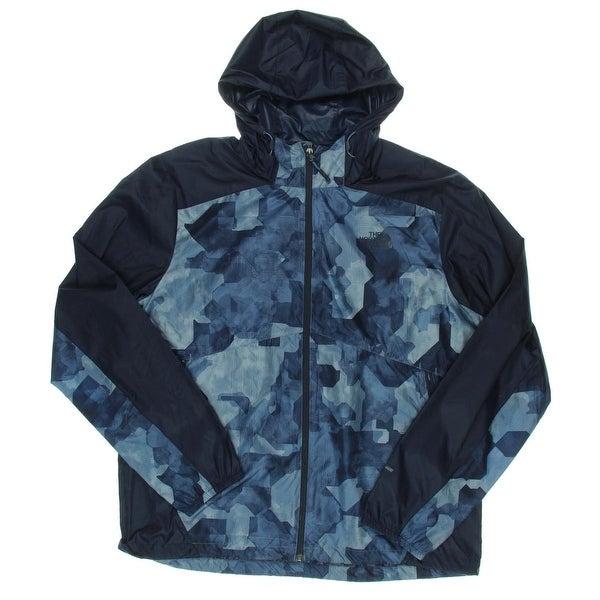 400023585 The North Face Mens Windbreaker Jacket Flyweight Hoodie Adjustable Strings  - XL