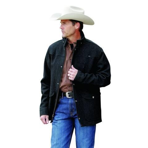 Miller Ranch Western Coat Mens Melton Wool Charcoal
