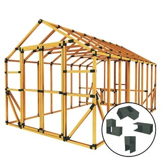 E-Z Frame 10X16 Standard Chicken Coop and Run Kit - black