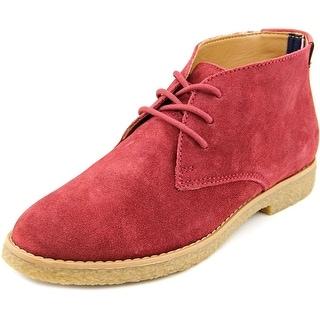 Tommy Hilfiger Zakry Men Round Toe Suede Red Chukka Boot