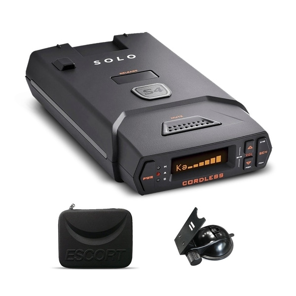 Escort Solo S4 Cordless OLED Display Long Range Laser/Radar Detector + 1 Year Extended Warranty