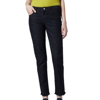 TopShop NEW Black Women's Size 0X31 Relaxed Frayed Hem Skinny Jeans