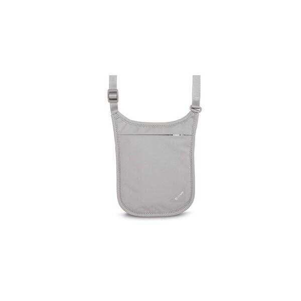Pacsafe Coversafe V75-Neutral Grey Rfid Blocking Neck Pouch w/Adjustable Strap
