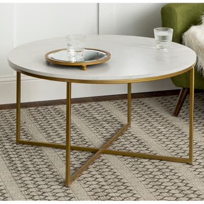 Silver Orchid Helbling Glam 36-inch Round Coffee Table