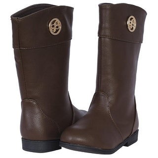 Bebe Toddler Girls 5-10 Medallion Riding Boots - Brown
