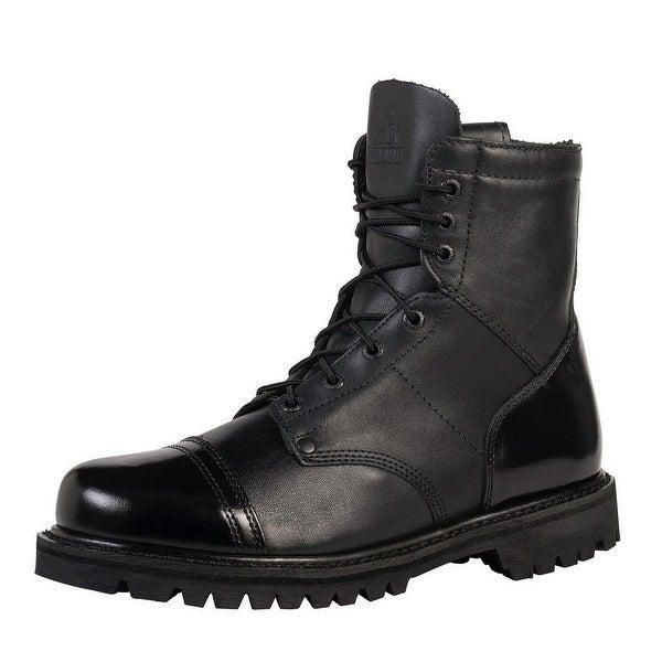 "Rocky Work Boots Mens 7"" Zip Jump Boot Goodyear Black"