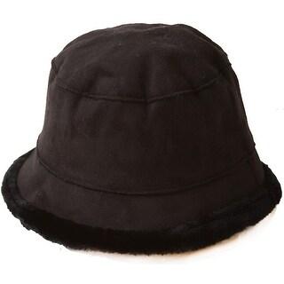 Women's Inner Faux Fur Fashion Bucket Hat Cap (Option: Red)
