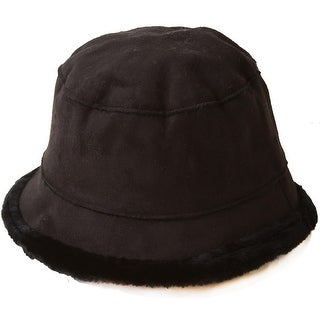 Women's Inner Faux Fur Fashion Bucket Hat Cap