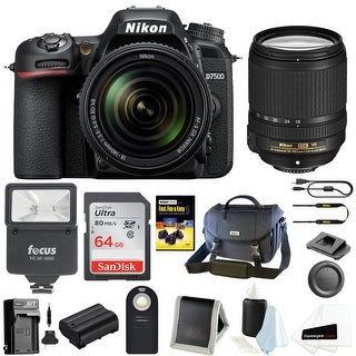 Nikon D7500 DSLR Camera with 18-140 VR Lens and Nikon Bag Bundle