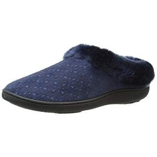Isotoner Womens Charlee Slip-On Slippers Microsuede Perforated