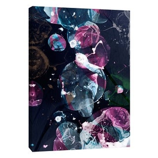 "PTM Images 9-109097  PTM Canvas Collection 10"" x 8"" - ""Bubbling Midnight 2"" Giclee Abstract Art Print on Canvas"