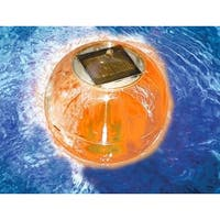 "5"" HydroTools Swimming Pool or Spa Amber Floating Ball Solar Light"