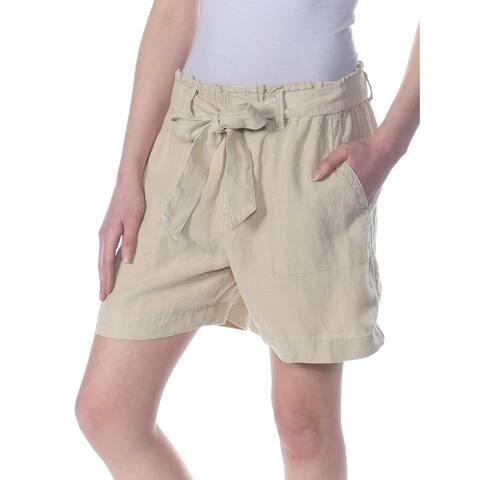 Sanctuary Beige Sand Womens Size XL Tie-Waist Muse Linen Shorts