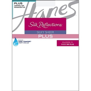 Hanes Silk Reflections Plus Sheer Control Top Enhanced Toe Pantyhose - pp