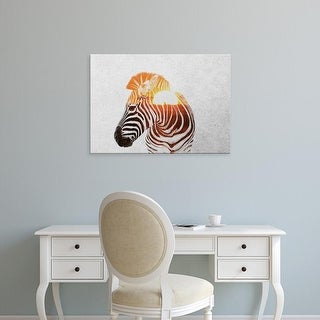 Easy Art Prints Andreas Lie's 'Zebra' Premium Canvas Art