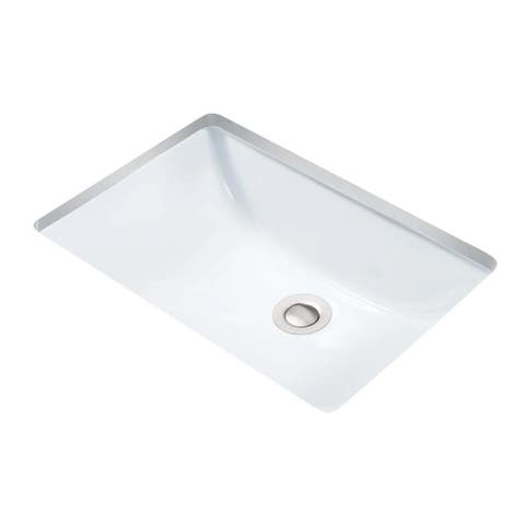 "Miseno MNO1812RU 18-3/4"" Undermount Bathroom Sink with Overflow (Mounting Clips Included)"