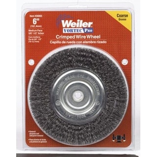 """Weiler 36003 Medium Face Crimped Wire Wheel, 6"""""""