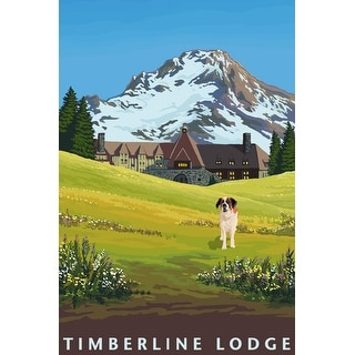 Timberline Lodge in Spring - LP Artwork (Light Switchplate Cover)