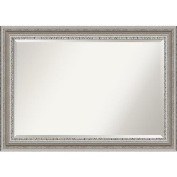 The Gray Barn Parlor Silver Bathroom Vanity Wall Mirror. Opens flyout.