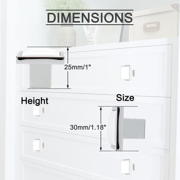 4pcs Ceramic Door Handles White Kitchen Cabinet Cupboard Wardrobe Pull Knobs
