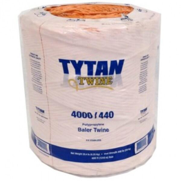 Tytan International PBT4440TONBP Polypropylene Baler Twine, 4000', Orange