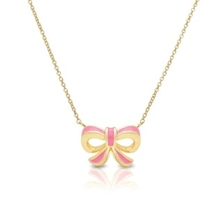 Lily Nily Girl's Bow Necklace - Pink