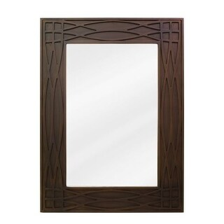Elements MIR043 Rutherford Chcolate 22 x 30 Inch Mirror
