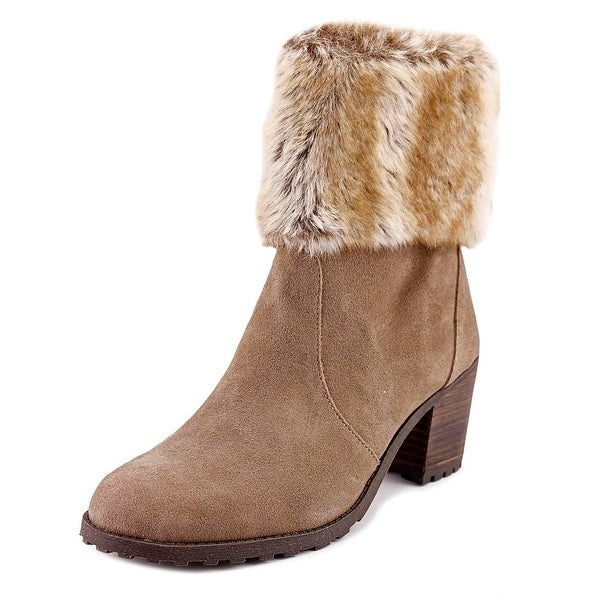 Aerosoles Incognito Women Round Toe Suede Tan Ankle Boot