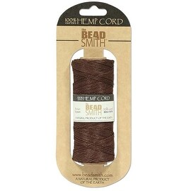 Beadsmith Natural Hemp Twine Bead Cord Brown Color 1mm / 197 Feet (60 Meters)