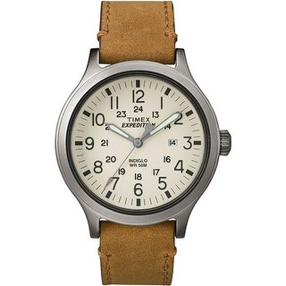 Timex Expedition Scout 43 Watch - Natural Dial/Tan Leather Expedition Scout 43