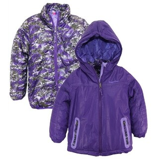 Rugged Bear Toddler Girls System Winter Coat Camo Cheetah Quilted Jacket size 4T