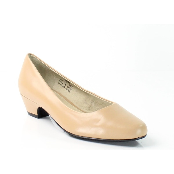 Propet NEW Beige Oyster Taxi Shoes Size 8M Pumps Leather Heels