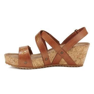 Walking Cradles Womens Tierman Leather Open Toe Casual Strappy Sandals - 10