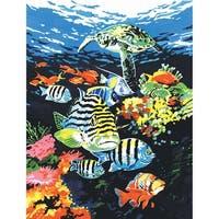 "Paint By Number Kit Artist Canvas Series 9""X12""-Ocean Deep"